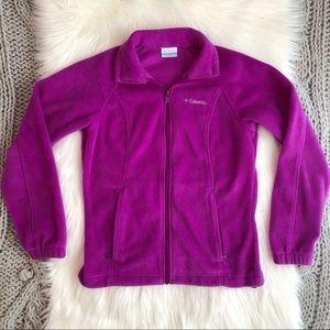 Bright plum Columbia fleece jacket